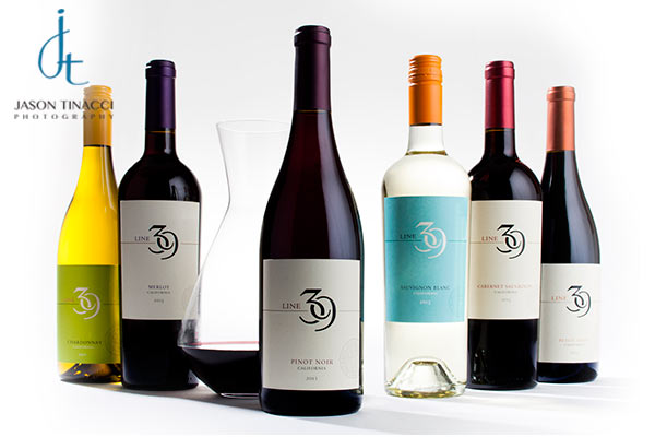 Wine portfolio bottle shots by Jason Tinacci
