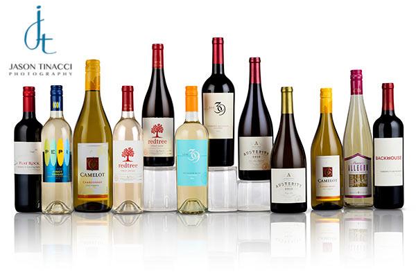 Wine portfolio bottle shots by Jason Tinacci