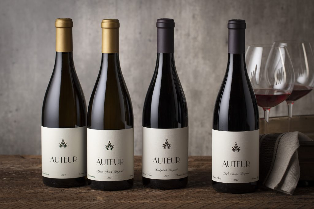 Sonoma Valley wine brand, Auteur styled wine bottle photography by Jason Tinacci